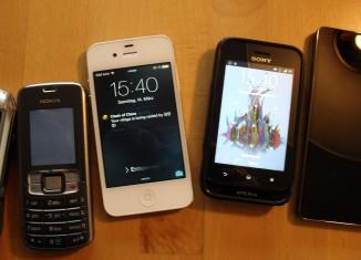 Moderne Smartphones